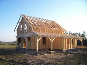 hrubá stavba dřevostavby